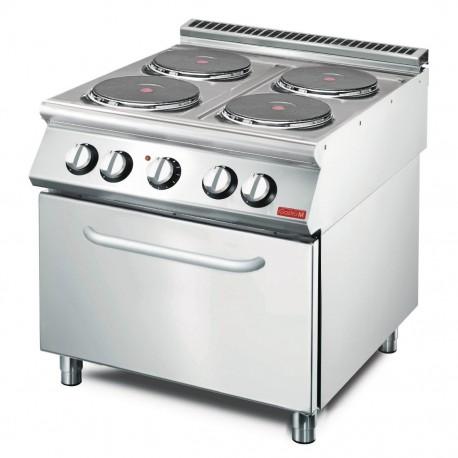 Cocina eléctrica GastroM 4 placas + horno