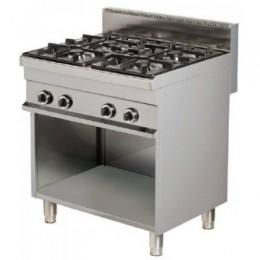 Cocina gas 4 fuegos con mueble 800x700x900mm