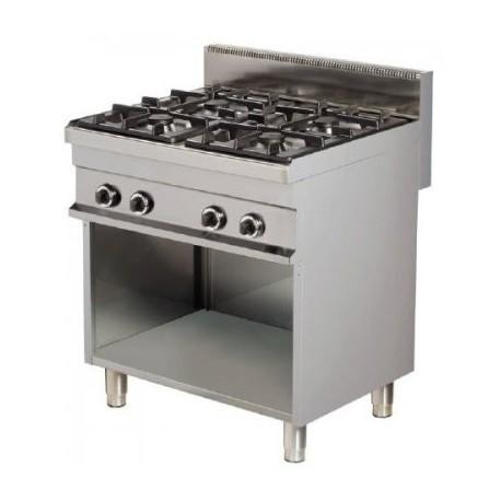 Cocina a gas 4 fuegos con mueble 800x700x900mm